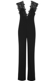 Theory Zuzanna lace-paneled crepe jumpsuit