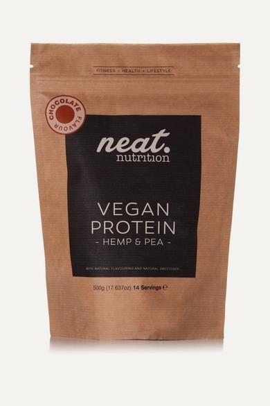 NEAT NUTRITION HEMP AND PEA VEGAN PROTEIN - CHOCOLATE, 500G