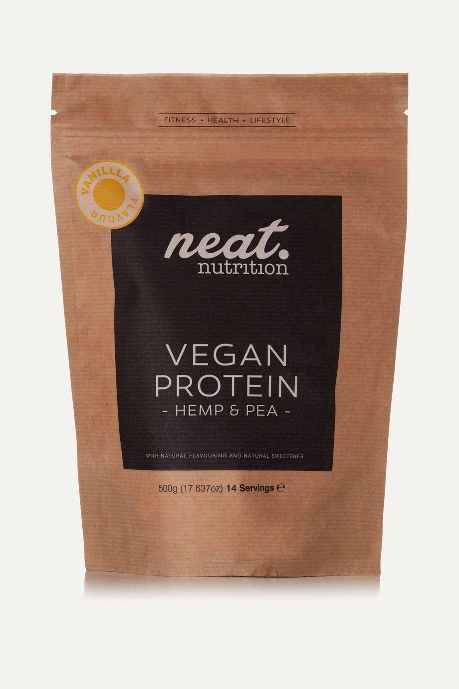 Neat Nutrition Hemp and Pea Vegan Protein - Vanilla, 500g