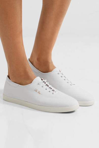 The Row Dean Sneakers aus Canvas mit Stickerei