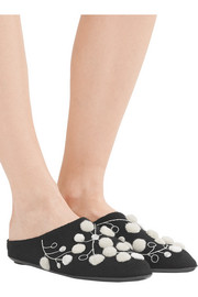 Bea embellished cashmere slippers