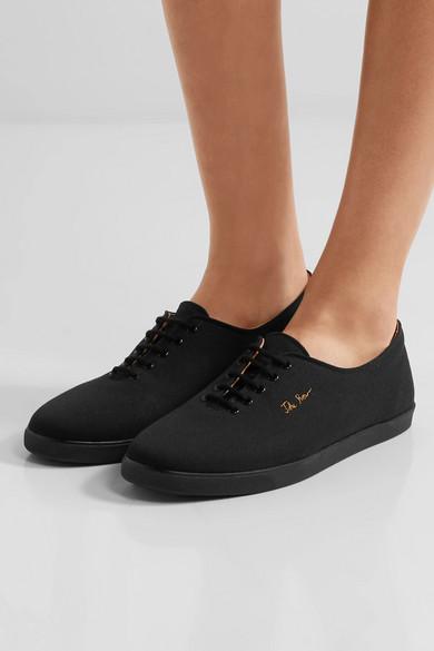 Gut Verkaufen Zu Verkaufen The Row Dean Sneakers aus Canvas mit Stickerei Auslassstellen Günstig Online Footlocker Finish EZqSSElTX0