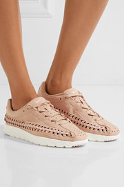 Nike Mayfly woven faux leather-trimmed faux suede sneakers