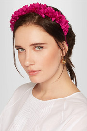 Flock silk headband