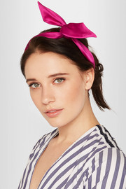 Fork satin headband