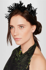 Ziggy fringed raffia headband