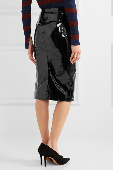 Topshop Unique | Patent-leather pencil skirt | NET-A-PORTER.COM