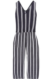 Edna striped cotton-gauze jumpsuit