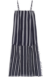 Edna striped cotton-gauze maxi dress