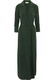 L'Agence Cameron washed-silk shirt dress