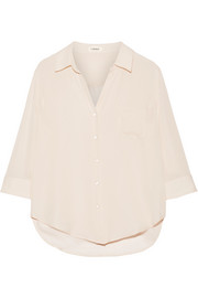L'Agence Ryan silk-georgette shirt