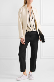 Zurs belted wool-blend jacket