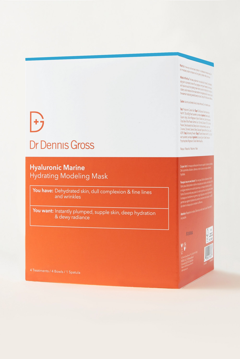 Dr. Dennis Gross Skincare Hyaluronic Marine Hydrating Modeling Mask x 4