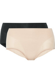 Retro set of two stretch-jersey briefs