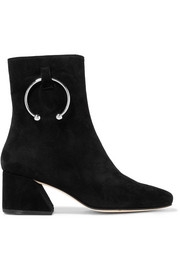 Nizip embellished suede ankle boots