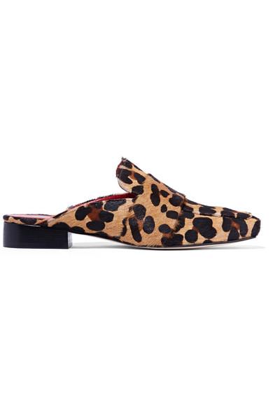 DORATEYMUR - Filiskiye Leopard-print Calf Hair Slippers - Leopard print