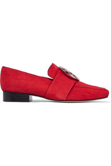 DORATEYMUR - Harput Embellished Suede Loafers - Red