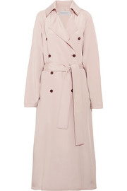 Cabot oversized silk-charmeuse trench coat