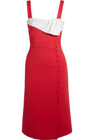Gabriela Hearst - Isobel Striped Silk And Wool-blend Dress - Red