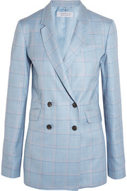 Themis checked silk and wool-blend blazer