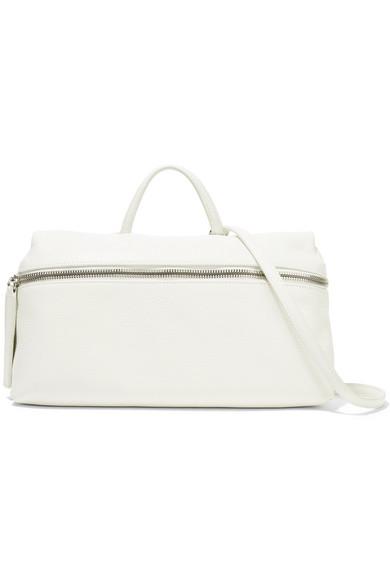 KARA - Textured-leather Shoulder Bag - White
