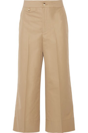 Helmut Lang Cropped cotton wide-leg pants