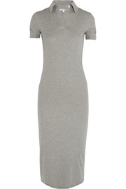 Helmut Lang Cutout cotton-jersey midi dress