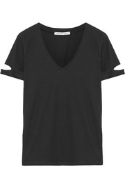 Helmut Lang Cutout cotton-jersey T-shirt