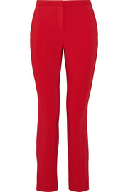 Rosetta Getty Cropped stretch-cady skinny pants