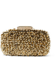 Goa embellished lamé clutch
