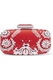 Goa embellished satin clutch