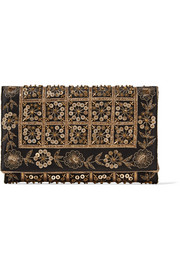DeDe embellished satin clutch