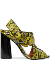 3.1 Phillip Lim Patsy studded snake-effect leather sandals