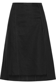 Narciso Rodriguez Asymmetric layered linen-twill skirt