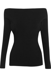 Dion Lee Cutout stretch-ponte top