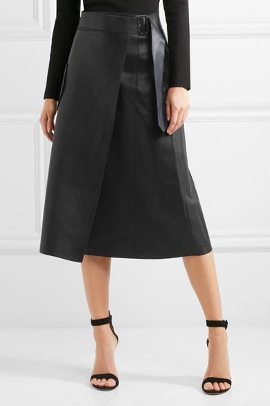 93fa9dfad1 Dion Lee | Leather midi skirt | NET-A-PORTER.COM
