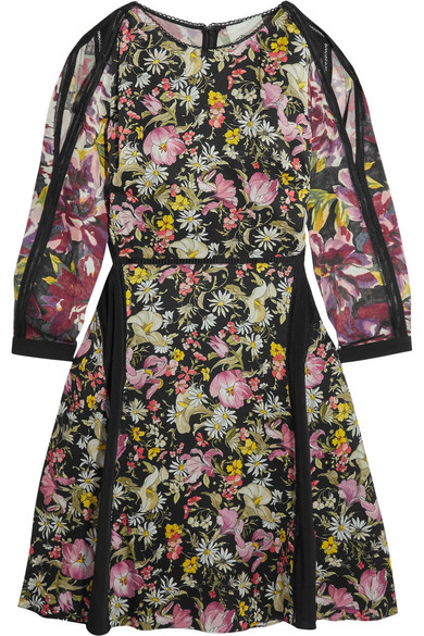a7549e1faf6402 3.1 Phillip Lim. Meadow Flower cold-shoulder printed silk-crepe dress