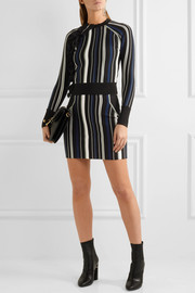 3.1 Phillip Lim Ruffle-trimmed striped stretch cotton-blend sweater