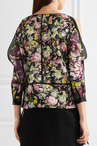 bd3d17cb775ae1 3.1 Phillip Lim. Meadow Flower cold-shoulder printed silk-satin blouse.   198. Play