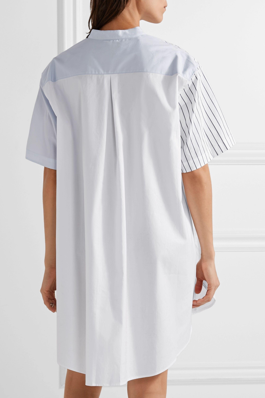 3.1 Phillip Lim Patchwork striped cotton-poplin mini shirt dress