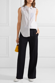 3.1 Phillip Lim Patchwork striped cotton-poplin top