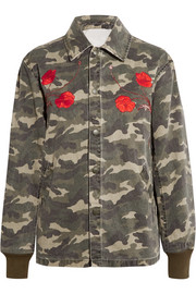 Tigers Coach appliquéd camouflage-print cotton-canvas jacket