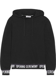 Cotton-jersey hooded top