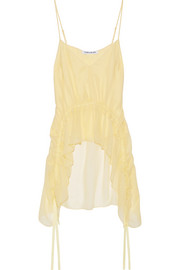 Elizabeth and James Eleanor ruffled silk-crepon camisole