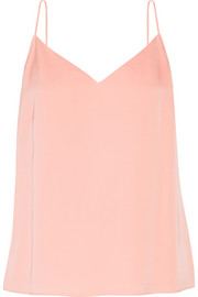 Elizabeth and James Posie pleated stretch-silk chiffon camisole