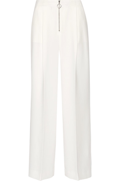 Stevie stretch-crepe wide-leg pants