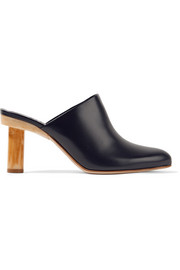 Zoe leather mules
