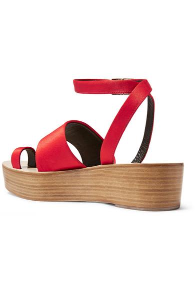 c25b9398f11 Tibi. Janie satin platform sandals.  118.50. Zoom In