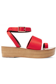 Janie satin platform sandals