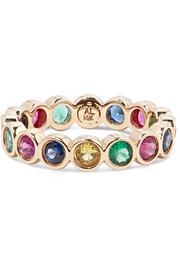 + Hasbro Twister 14-karat gold multi-stone ring